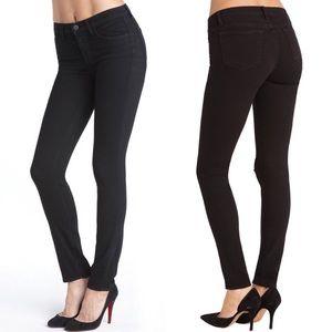 J Brand Black Skinny Leg Jeans In Shadow
